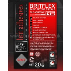 Britflex Rapid Rs grey single part wall and floor adhesive 20 kg by Brit Adhesives