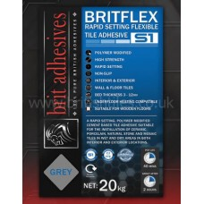 Britflex S1 Rapidset white single part wall and floor adhesive 20 kg by Brit Adhesives