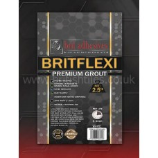 Britflexi Premium anthracite single part wall grout 10 kg by Brit Adhesives