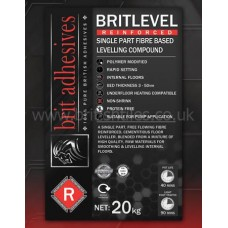 Britlevel Flexible grey single part floor leveller 20 kg by Brit Adhesives