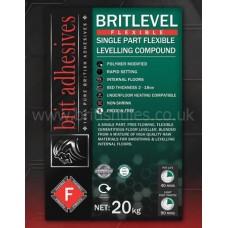 Britlevel Reinforced grey single part floor leveller 20 kg by Brit Adhesives