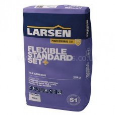 Flex Standard Set grey single part wall and floor adhesive 20 kg by Larsen