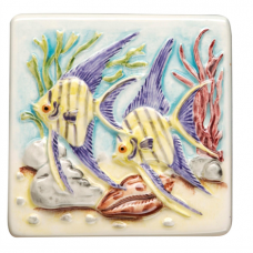 Original Style Angel Fish hand painted on clematis wall tile KHP5870 100x100 mm La Belle