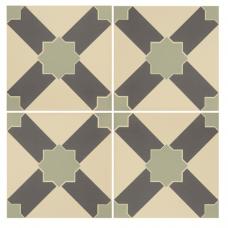 Alhambra Denim and Light Jade on White tile 8105V Odyssey Primo Original Style