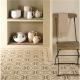 Arabesque Old London and Regency Bath on White - 2 Tile Set tile 8127V Odyssey Primo Original Style