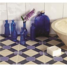 Alhambra Indigo and Dark Blue on White tile 8108V Odyssey Primo Original Style