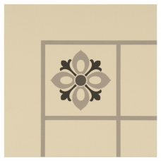 Bohemia Corner Light Grey, Dark Grey and Black on White tile 8004V Odyssey Primo Original Style
