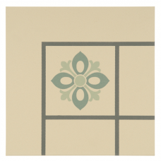 Bohemia Corner Denim, Light Jade and Dark Jade on White tile 8044V Odyssey Primo Original Style