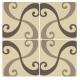 Arabesque Light Grey and Dark Grey on White - 2 Tile Set tile 8131V Odyssey Primo Original Style