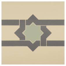 Iberian Border Denim and Light Jade on White tile 8106V Odyssey Primo Original Style