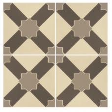 Alhambra Light Grey and Dark Grey on White tile 8102V Odyssey Primo Original Style