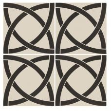 Avalon Black on Dover White tile 7949V Odyssey Primo Original Style