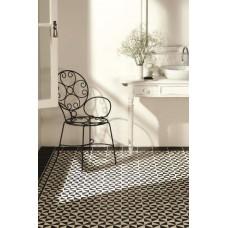 Avignon Black on Dover White tile 7953V Odyssey Primo Original Style