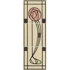 Original Style 3-Tile Set on Colonial White Glasgow Rose Left Hand 152 x 152mm | 6 x 6inch 6993B