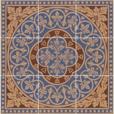 Disraeli 9 Tile Set blue 6261V by Original Style 45.7 x 45.7cm