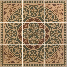 Disraeli 9 Tile Set green 6276V by Original Style 45.7 x 45.7cm