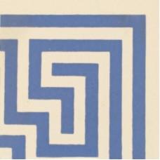 Greek Key Corner blue on white 6669V by Original Style 5.3 x 5.3cm