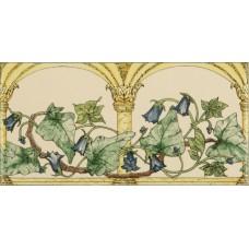 Original Style 2-Tile Set on Colonial White W B Simpson Fish Frieze 152 x 152mm | 6 x 6inch 6990B